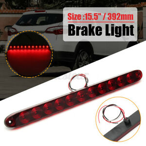 Red 11 LED 3rd High Brake Stop Light Bar Rear Tail Trailer Truck RV  *//