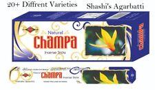 Shashi Insence Sticks Genuine Nag Champa Incense Joss 120 pcs box Mix & Match