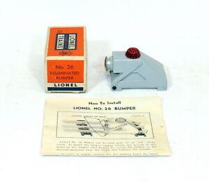 Postwar Lionel #26 Track Bumper (Scarce Gray)~Mint Unused~w/Nice OB & Inst.