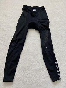 Lambda Mens XL Black Padded Cycling Compression Pants Reflective TS9 (32x30)