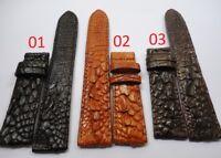 Genuine Leg Crocodile Alligator Skin Leather Watch Strap Band 18mm/24mm