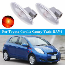 2x Side Marker Turn Signal Lamp Fender Light For Toyota Corolla Camry Yaris RAV4