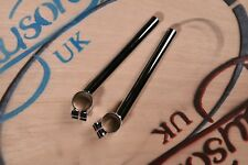 Offset Clip-on Handlebars 35mm Classic Cafe Racer Triumph Norton Triton Manx