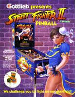 STREET FIGHTER II Pinball FLYER Original 1992 Game Art Based On Capcom Arcade