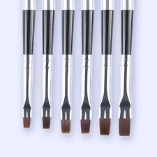 6Stk UV Gel Pinselset Brush Nail Art Nagel Design Pinsel Detachable Pen Tools