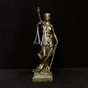 Justitia Figur Gerechtigkeit Göttin Mythologie Dekoration Anwalt Kanzlei IM71