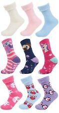 Womens Cosy Slipper Socks 3 Pack Soft Fleece Lounge Bed Socks Thermal Booties