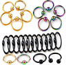 5Pcs Body Piercing Jewellery Horseshoe Septum Piercing Nose Lip Ring Ear Smiley