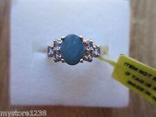 Australian Boulder Opal Tanzanite Ring Platinum Overlay Sterling Silver Size 7