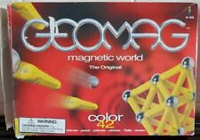 Geomag Magnetic World The Original Colour 42 Pieces 99% Complete -GREEN -EX COND