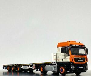"MAN TGX XLX flatbed megatrailer""Universal Transport""WSI truck models 01-3202"