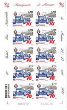 MONACO N° 2823 non dentelé imperf 70e Grand Prix de Monaco, feuille de 10.