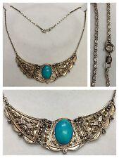 ANTICA CATENA/collier 950er argento collana collier in con turchese