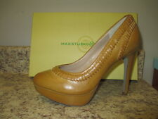 "Max Studio ""Adelle"" Platform Pumps 9 M Burnished Leather New with Box"