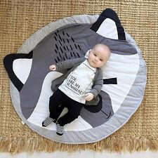 Baby Infant Kids Play Crawl Game Cartoon Mat Round Cotton Carpet Blanket