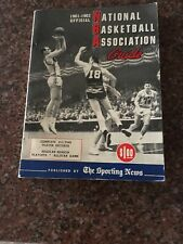 Rare 1961-1962 NBA Guide From The Sporting News