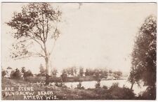 1918 Lake Scene at Bungalow Beach in Amery, Wis. RPPC