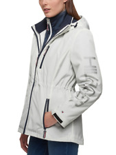 Tommy Hilfigure Women's 3-in-1 All-Weather System Jacket Hooded White/Navy XL