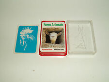 "Vintage Waddingtons Quartet Trumps ""Farm Animals"" Made in W. Germany 1976."