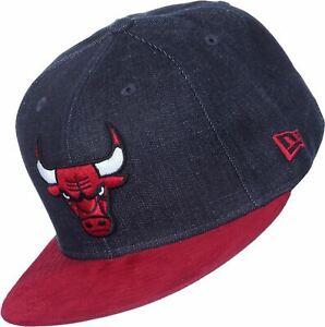 NEW ERA OFFICIAL NBA CHICAGO BULLS Denim Suede Baseball Cap * 7 1/4 (57.7cm)