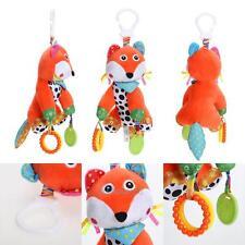 Baby Kids Plush Fox Handbell Toys Teether Educational Pram Hanging Musical Gift