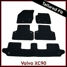 Volvo XC90 Mk1 2002-2015 7-Seater Fully Tailored Fitted Carpet Car Mats BLACK