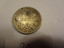 Reichsmark, 1 Mark, Reichsmünze, 1906 Buchstabe F silber  unbehandelt, top (20)
