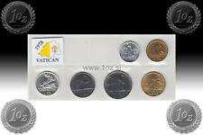 VATICAN SET 1978 - 6 coins 1978 ( 5, 10, 20, 50, 100, 200 LIRE ) UNCIRCULATED