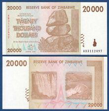 SIMBABWE / ZIMBABWE 20.000 Dollars 2008  UNC P.73
