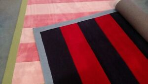 Kids Teen Dorm Area Rug Rugby Stripe 5'X8' Girls Sale Hand Tufted Hand Hook