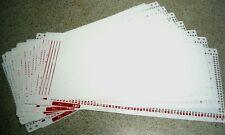 Pre Punched Card Set (R-2) for SilverReed/Singer Ribber SRP60N/SRP60/SRP50/SRP20