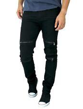 ETZO Men's biker jeans, Slim Skinny fit premium Ripped Distressed Denim (J7629)