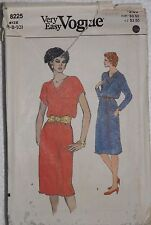 Vogue 8225 Sewing Pattern Misses A-Line Bias Cut Cowl Neck Dress Sizes 6 8 10 UC