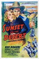 OLD LARGE ROY ROGERS COWBOY MOVIE POSTER, Sunset On The Desert 1942