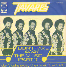 "TAVARES ‎– Don't Take Away The Music (Part 1, 1976 DISCO VINYL SINGLE 7"")"