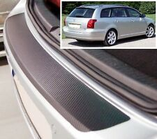 Toyota avensis mk2 familiar-carbon style rear bumper protector