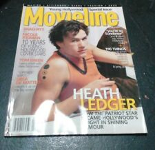 Set of 2 Movieline Magazines from 2001 with Ledger and Depp on covers