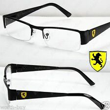 New Mens Womens Khan Clear Lens Glasses Rectangular Frame Black Yellow Nerd RX