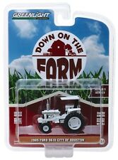 1:64 GreenLight DOWN ON THE FARM 3 White 1985 FORD 5610 Tractor City of Houston
