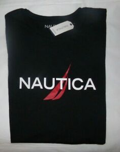NWT MENS NAUTICA S/S T-SHIRT~BLACK~SZ XL