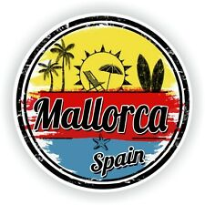 Mallorca Stamp Sticker for Bumper Baggage Travel Door Laptop Tablet Helmet