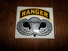 U.S Military Army Jump Wings With Ranger Rocker Window Decal Sticker