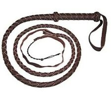Bull Whip Real Leather Dark Brown BULLWHIP 6 Ft 4 Plait Be Rodeo Western Cowboy