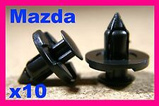 10 MAZDA front rear bumper push type fasteners clips 8mm