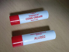 """TWIN PACK WINDCRAFT """"PREMIUM"""" CORK GREASE Made in USA LIPSTICK STYLE JUST £3.55"""