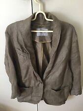 Scanlan & Theodore Women's Coat Jacket Olive Green Khaki