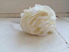 Ivory Satin Hairband Headband Ivory Silk Flower Bridesmaid Flower Girl