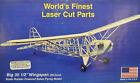 "PIPER J-3 CUB, Laser Cut, Free Flight Kit, W/S 25 1/2"" Rubber Power, Untouched"