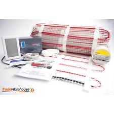 Under Tile Floor Heating Kit - 17sqm - VERTICAL White Thermostat