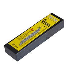 50 Pcs 30° Degree Snap Off Razor Blades 9mm Carbon Steel fo OLFA Lockable Knife